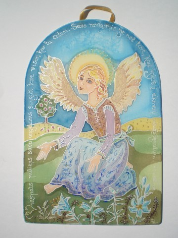 An angel among the lilies
