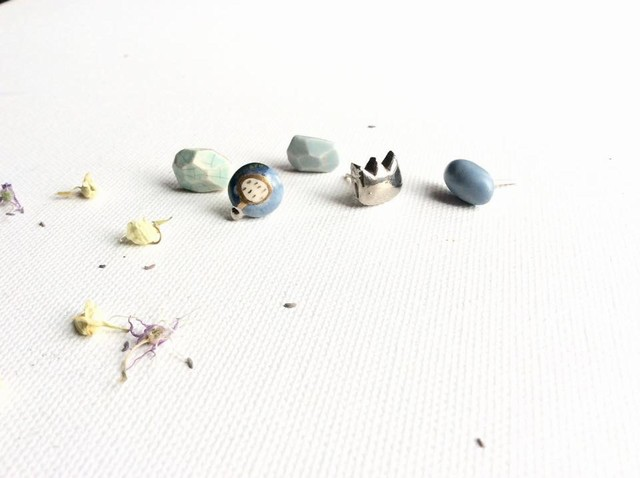 Mini keramikos auskarai