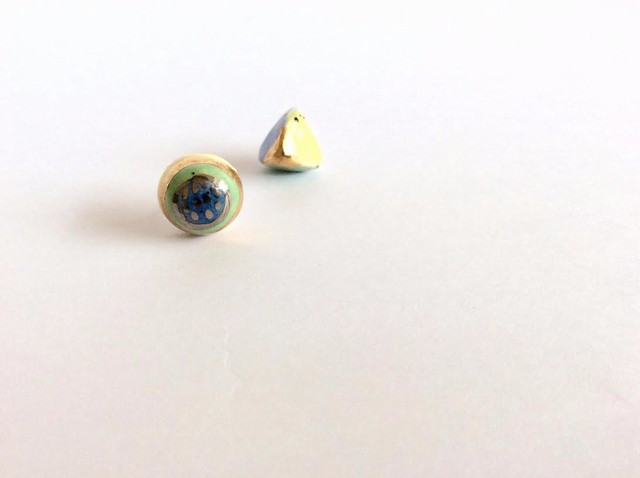 Mini keramikos auskariukai