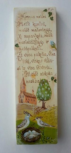 """Medžio tapyba """"Himnas meilei"""""""